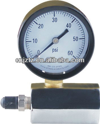50mm Gas Pressure Meter Hex Body Type With Air Valve For Pipeline