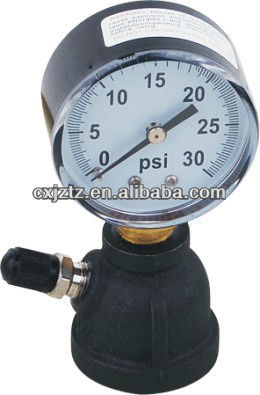 50mm Gas Pressure Gauge Bell Shaped Type With Air Valve For Pipeline