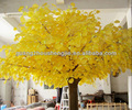 Beautiful Artificial Hu Poplar Tree Handmade Elegance Hu Poplar Tree Yellow Artificial Huge Tree